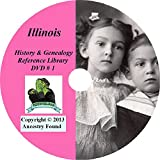 206 old books Illinois History & Genealogy Family Tree