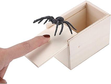 Spider in a Box Prank Gift Gag Pull Toy Scare Tool Joke Trick Tarantula Case CA