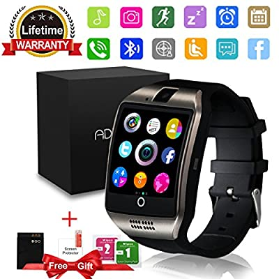 Bluetooth Smart Watch with Camera Touchscreen,Waterproof Smartwatch Unlocked Phone Watchs with SIM Card Slot, Smart Wrist Watch Compatible with Android iPhone X 8 7 6 5 Plus