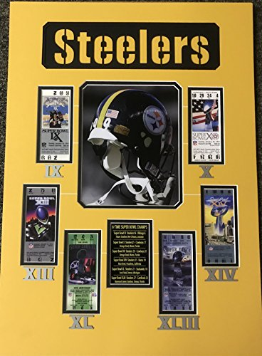 Framed Pittsburgh Steelers 6x Super Bowl Champions Replica Ticket 20x18 Football Photo Professionally Matted