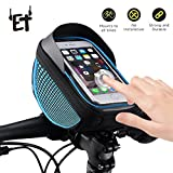 VapeOnly Bike Phone Bag Waterproof phone Case Easy Release GoPro Style Fastening System for All bicycle handlebars Touch Screen Phone Holder Frame Pouch for All Mobiles Below 6.0 Inches,Dark Blue