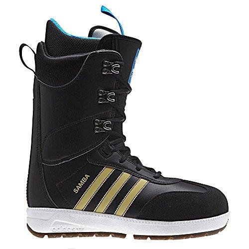 Adidas Uomo Skateboard Samba Adv Core Nero / Oro Metallizzato / Bianco Calzature