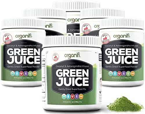 Organifi: Green Juice - Organic Superfood Supplement Powder - 30 Day Supply - USDA Certified Organic Vegan Greens- 9.5 Ounce (Pack of 6)