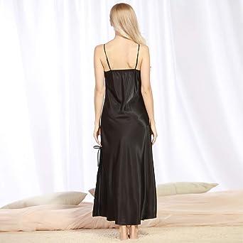 ef4402cb0c4 Mikkar Lingerie Women V Neck Robe Dress Babydoll Nightdress Sleepwear  Kimono Dress at Amazon Women s Clothing store
