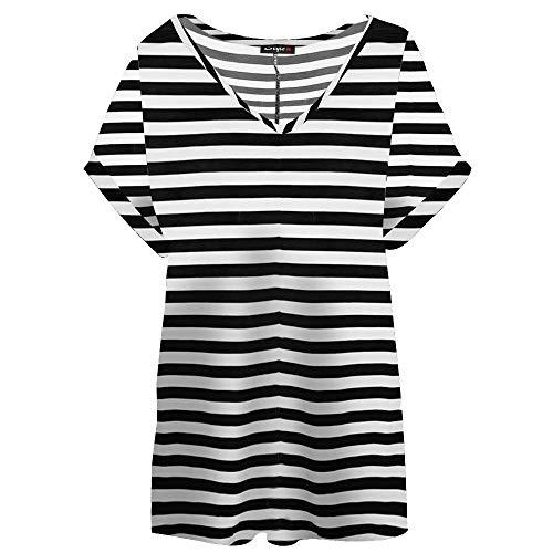 de Stripes white Camiseta Ltd Black tirantes Ahr mujer 1qxOEWaZnw