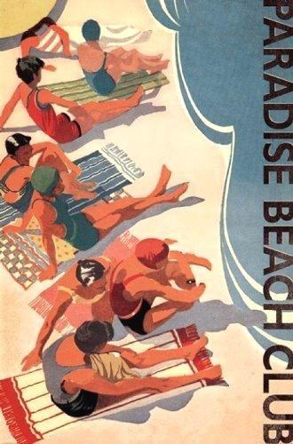Buyartforless Paradise Beach Club 36x24 Art Print Poster Vin