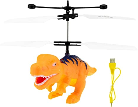 Amazon.com: Theshy Flying Helicopter Dinosaurs Dragon Toys ...