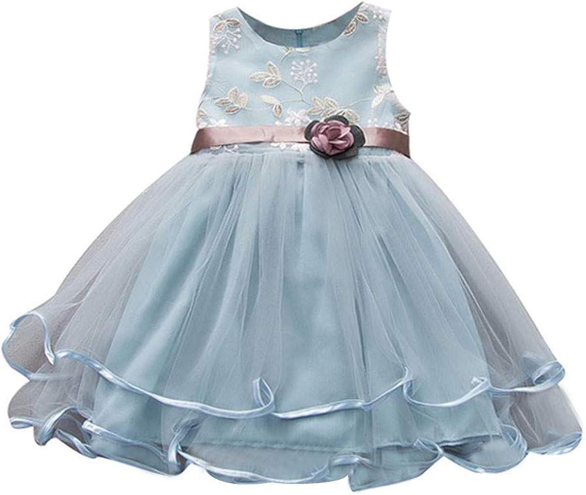 Fossen Kids Vestidos Princesa Niña Boda de Malla, Falda Tul Niña ...