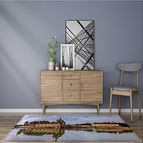for Home or Travel Chantilly castle panoramic view on sunset background with reflection in the Easier to Dry for Bathroom 24