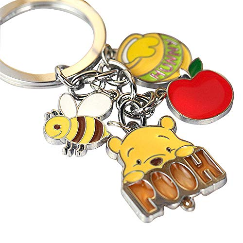 - Cute Cute Pooh Bear Honey Bee Charms Metal Keychain Key Ring Z184-B