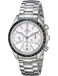 Men's 32630405002001 Speed Master Analog Display Automatic Self Wind Silver Watch
