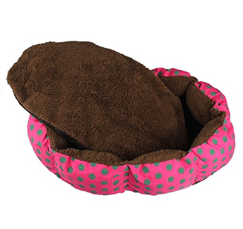 Lowpricenice(tm) Soft Fleece Cute Pet Dog Puppy Cat Warm Bed House Plush Cozy Nest Mat Pad (Hot Pink)