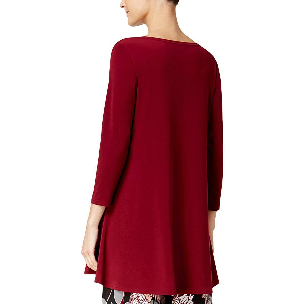 e273fa761e8 Alfani Womens Matte Jersey 3/4 Sleeves Blouse at Amazon Women's Clothing  store: