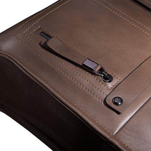 Mens Business Tote Handbag Doctor Leather Document Clutch Bag Strap by MXPBJ (Image #8)