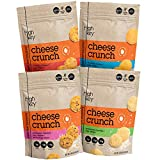 HighKey Snacks Cheese Crunch - Cheese & Egg White High Protein Cheese Crisps - Low Carb, Keto Friendly, Gluten Free, Healthy Snack - Ketogenic Food For Any Diet with Natural Ingredients - Variety Larger Image