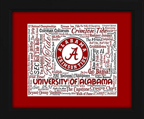 University of Alabama 16x20 Art Piece - Beautifully matted and framed behind glass ()