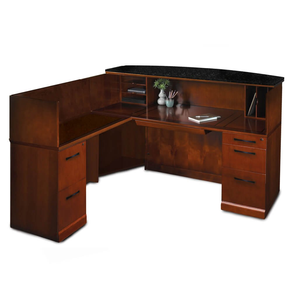 Office Reception Desk - Preside Reception Desk L-Shaped