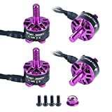 Crazepony 4pcs HGLRC FLAME 1407 3600KV Brushless Motor for 130mm-180mm FPV Racing Drone Quadcopter