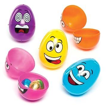huevos de pascua de plstico con caritas divertidas perfectos como relleno de piata premios y