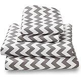 Where The Polka Dots Roam Ultra Microfiber King Bed Sheet Set, Gray Chevron