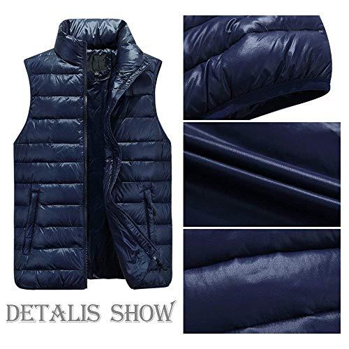 Jacket Mens Nenet Jacket Vests Down Tiefes Coat Winter Quilted Coat Vest Vest Warm Sleeveless Unique Blau Down Men's dvqxwIOw