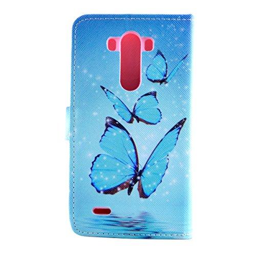 Funda para Sony Xperia Z4, Flip funda de cuero PU para Sony Xperia Z4, Xperia Z4 Leather Wallet Case Cover Skin Shell Carcasa Funda, Ukayfe Cubierta de la caja Funda protectora de cuero caso del sopor mariposa