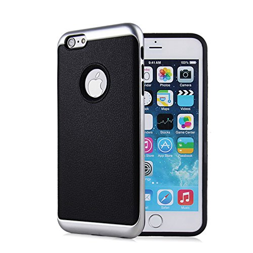 iPhone 6S Plus Slim Case, iPhone 6 Plus Slim Case, HLCT Leather Pattern, Slim Fit, Interior TPU Bumper & Hard...