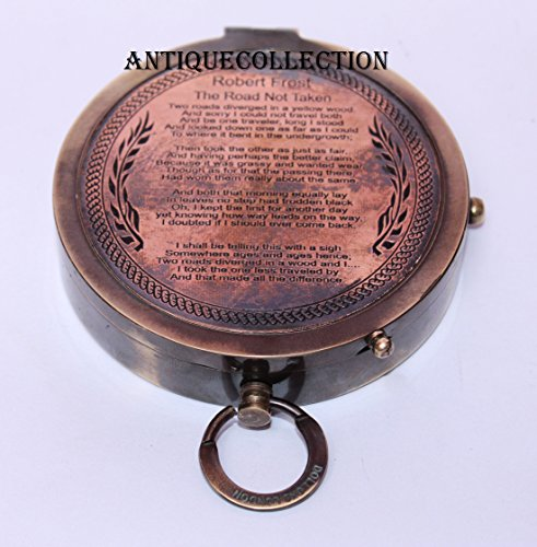 antiquecollectionヴィンテージアンティークロバート?フロスト詩コンパス – Nauticalギフト