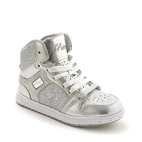 Pastry Glam Pie Glitter Dance Sneakers, Silver, Youth/Size 3