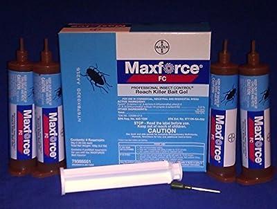 Maxforce FC Cockroach Roach Control Gel Bait 4 Tubes Kill German American Etc
