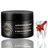 Natural Charcoal Teeth Whitening Powder - Made In USA - With Organic Coconut Activated Charcoal - Tooth Whitener - Effective than Charcoal Toothpaste, Kit & Gel