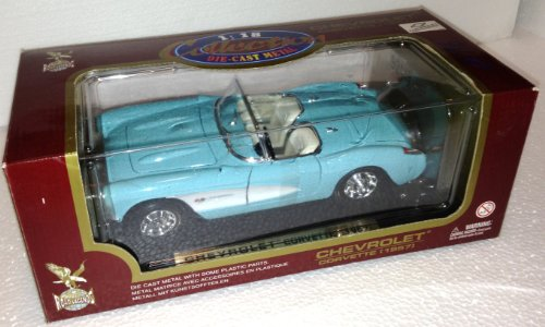 1957 CHEVROLET CORVETTE Road Legends BLUE CONVERTIBLE Collector's Edition 1:18 Diecast Metal (Diecast 1957 Chevy Corvette)