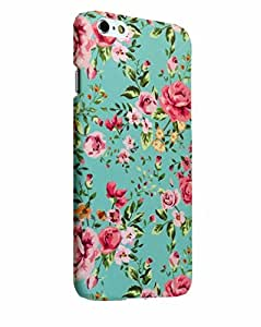 iPhone 6 case retro floral, Akna 2nd Generation of Stylish-fit Series, Retro Floral Pattern Rubber Feel Coating Hard Case for iPhone 6 [Elegant Green](U.S)