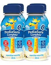 PediaSure Complete, Nutritional Supplement, 4 x 235 mL, Vanilla - Kids nutritional shake, containing DHA and vitamins that help promote healthy weight gain for kids