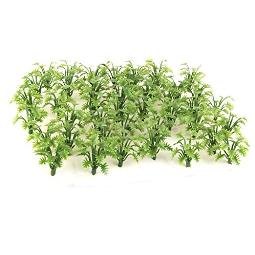 50 Model Grass Plant Green 1:42-1:60 4.5cm HO O Wargame Train Diorama Scene