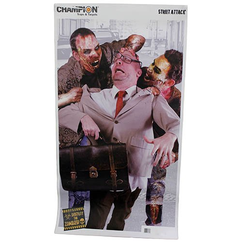 Champion Traps and Targets Street Attack Zombie Target (Pack of 10, - Street Target State