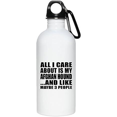 Botella de agua para amante de los perros, todo lo que me importa es mi