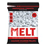 Snow Joe MELT25CCP 25-LB Professional Strength Calcium Chloride Pellets Ice Melter Resealable Bag