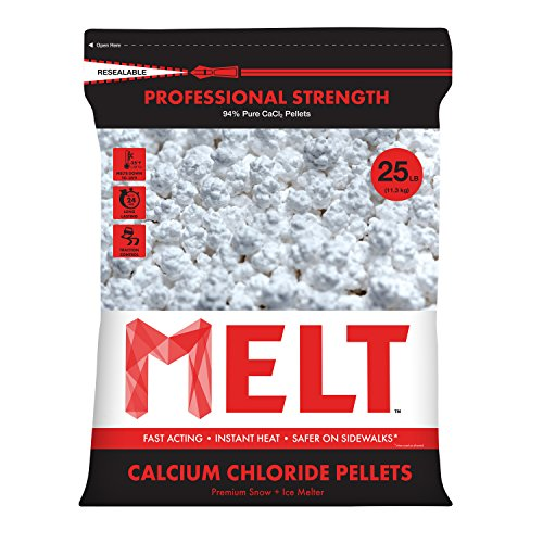 Snow Joe MELT 25 Lb. Resealable Bag Calcium Chloride Pellets Professional Strength Ice Melter