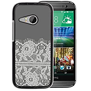 Planetar® ( Flowers Crocheted Fabric Sewing ) HTC ONE MINI 2 / M8 MINI Fundas Cover Cubre Hard Case Cover