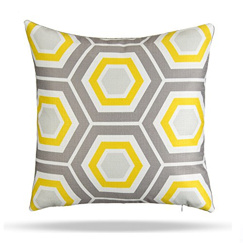 grouchy-goose-01114-queen-bee-throw-pillow-covers-yellow-grey-white
