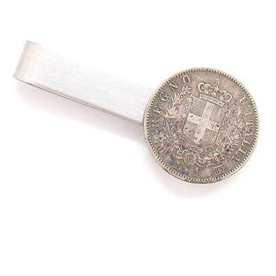 Italiano Plata Lira Tie Bar Clip Tiebar tieclip Suit Italia moneda ...