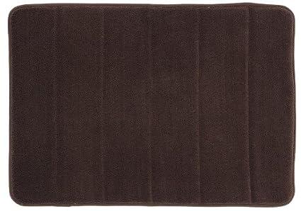 Mohawk Home Memory Foam Bath Rug, 17 By 24 Inch, Chocolate