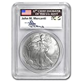2005 Silver American Eagle MS-70 PCGS (First Strike, Mercanti) Silver MS-70 PCGS