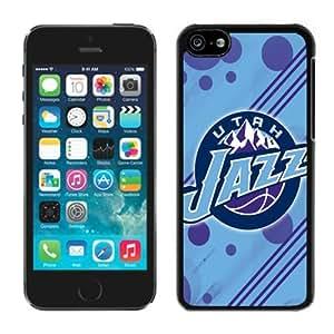 New Custom Design Cover Case For iPhone 5C Generation Utah Jazz 12 Black Phone Case