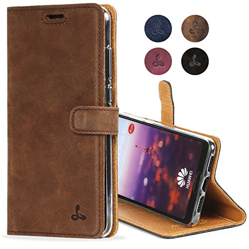Huawei P20 Pro Case, Snakehive Genuine Leather Wallet with Viewing Stand and Card Slots, Flip Cover Gift Boxed and Handmade in Europe by Snakehive for Huawei P20 Pro - Brown