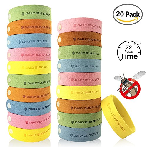 Mosquito Repellent Bracelet,Coniso 20pcs Insect & Bug Repellent Bands, 100% Natural, Indoor Outdoor Protection for Kids & Adults.