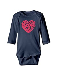 Baby Boys' And Girl's Bodysuits Valentines Love Jesus Long Sleeve