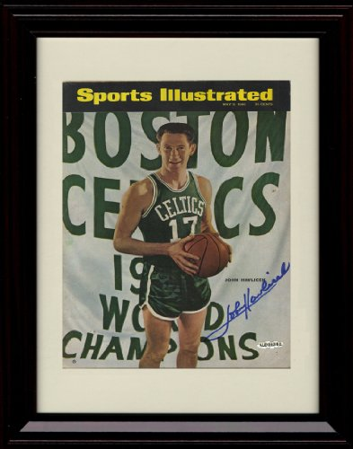 - Framed John Havlicek Sports Illustrated Autograph Replica Print - 5/9/1966 - Boston Celtics
