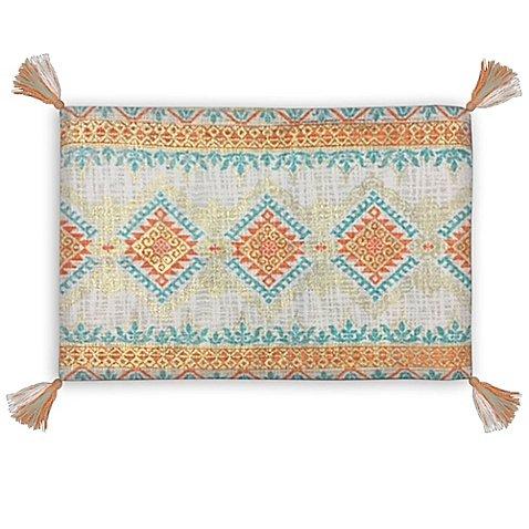 Missoni Home Garden (Dakota Foil Oblong Pillow in Orange   Measures 24